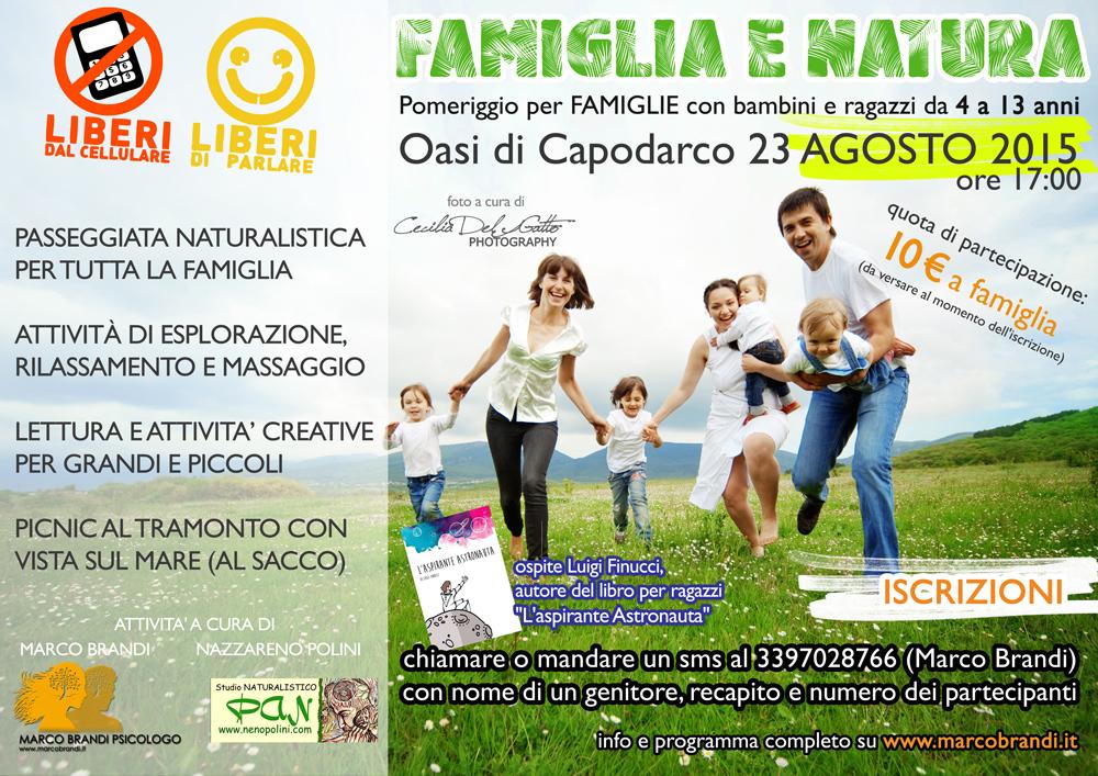 A4 web FAMIGLIA E NATURA OASI DI CAPODARCO 23 agosto 2015