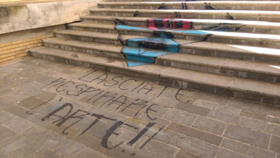 Articolo sugli atti vandalici del fermano