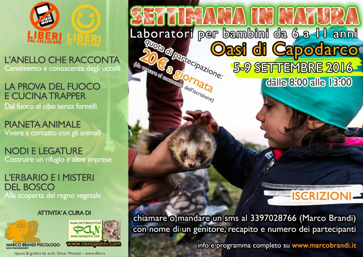 2016 settimana in natura Settimana in Natura 5 9 Settembre Capodarco (FM)