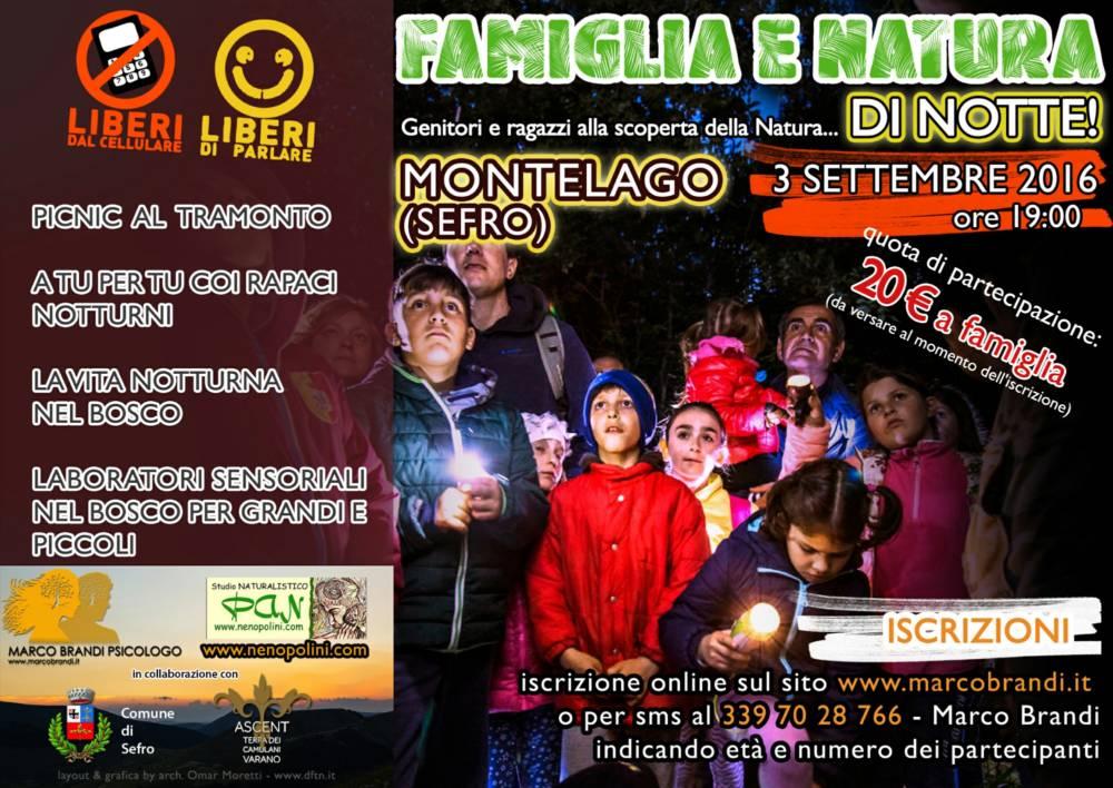 Famiglia e Natura di Notte@Montelago 3 settembre
