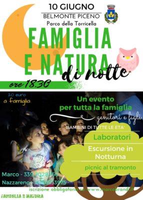 BELMONTE 2017 286x400 Famiglia E Natura di Notte@Belmonte Piceno