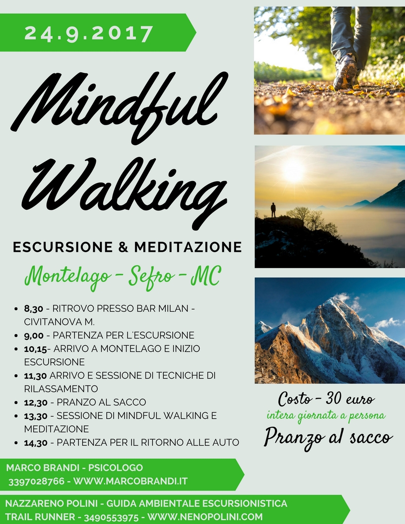 MINDFUL WALKING PROGRAMMA Mindful Walking   Escursione & Meditazione   24 settembre