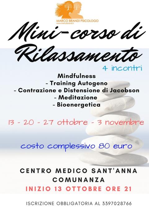 CORSO RILASSAMENTO COMUNANZA Mini corso di rilassamento   Comunanza   4 incontri