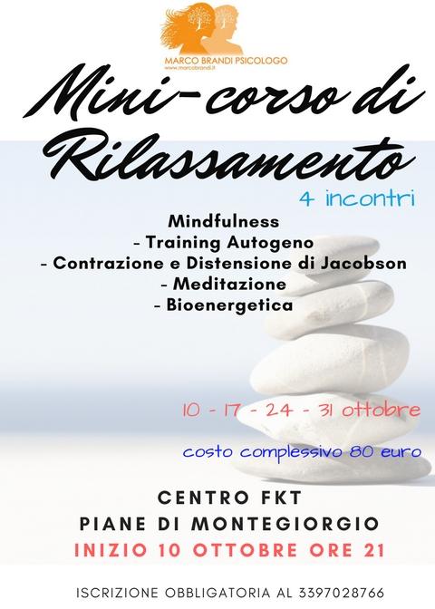 Corso di Rilassamento Minicorso di Rilassamento   Montegiorgio   4 incontri