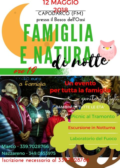 FN NOTTE 12.5.18 12 maggio Famiglia e Natura di Notte@Oasi di Capodarco