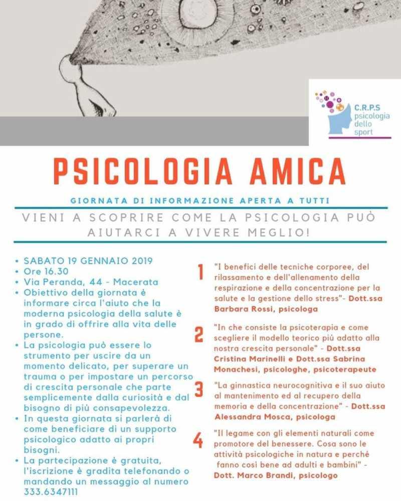 FB IMG 1546530629654 Come ci aiuta la psicologia Macerata