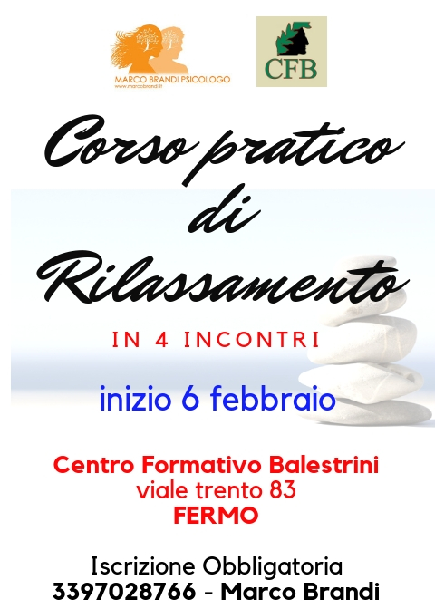 RILASSAMENTO FERMO 2019 Iscrizioni Corso Rilassamento
