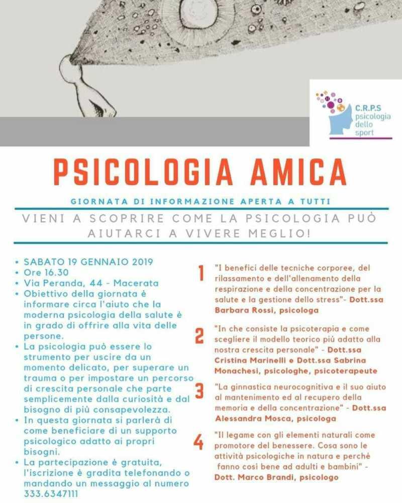 fb img 1546530629654 883558463 Convegno Psicologia Amica@Macerata