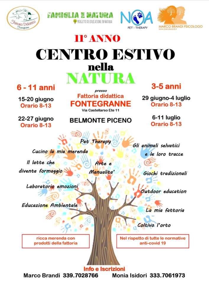VOLANTINO CENTRO 2020 1 Centro Estivo 2020